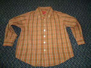 Boys Size 5 Long Sleeve Plaid Dress Shirt