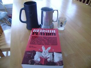 PLAYBOY STEIN, SHOT GLASS, BOOK Windsor Region Ontario image 1