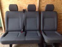 Vw transporter t5 rear kombi quick release 2 + 1 seats TASSAMO Isofix