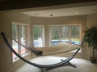 Two person hammock & bamboo stand