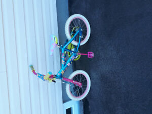 Girls bikes 16 inch and a 12 inch