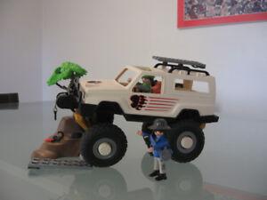 PLAYMOBIL vintage 3219, Aventurier véhicule 4X4.Safari Jeep