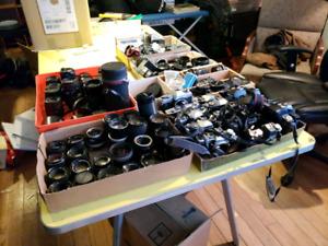 Vente Camera 35mm plusieurs LentillesCanon Pentax Nikon  Asahi
