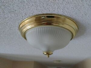 3 Flush Mount ceiling lights (CFL bulbs included)