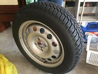 4 WINTER WHEEL AND TIRES - 15 INCH PIRELLI