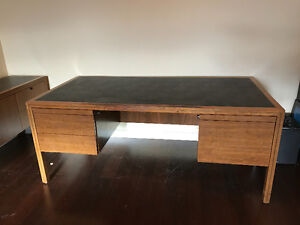 Solid Wood Desk and matching Credenza Cambridge Kitchener Area image 2