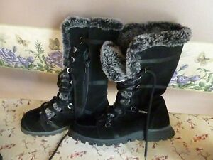 Womens Sketchers Black Winter Boots