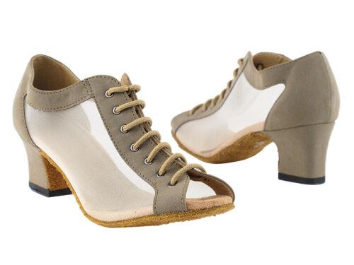 1643 Brown Nubuck Swing Ballroom Salsa Mambo Latin Dance Shoes heel 2 Size 5