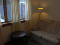 Bright basement apartment for rent to professionals or students