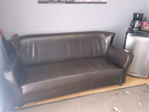 3 seat leather couch very clean