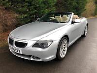 2006 (56) BMW 630i SPORT AUTOMATIC SPORTS CONVERTIBLE 3.0 PETROL