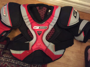 mens nike-bauer 70 shoulder pads sz sr medium