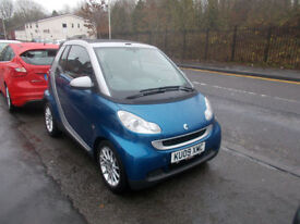 SMART FORTWO PASSION MHD AUTO CONVERTIBLE £20 A YEAR RFL 2009-09