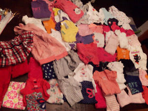 Large 6 month baby girl clothing lot