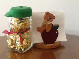 BEAR NAPKIN-MAIL-LETTER HOLDER also   GLASS BEAR