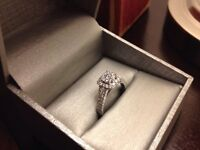 .70CT  14CT WHITE GOLD ENGAGEMENT RING