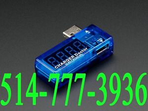 USB Current Voltage Power Tester Voltmeter Voltmètre Fil Wire