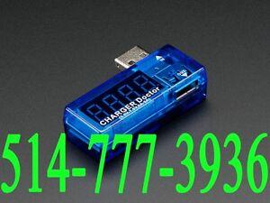 USB Current Voltage Power Tester Voltmeter Voltmètre Fil Wire
