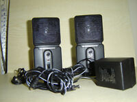 PAIR OF SMALL AMPLIFIED SPEAKERS