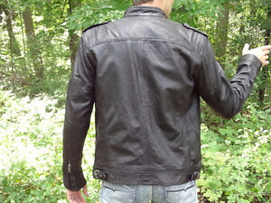 Genuine Leather Lambskin Jacket, Size S, brand new with tags Cambridge Kitchener Area image 3