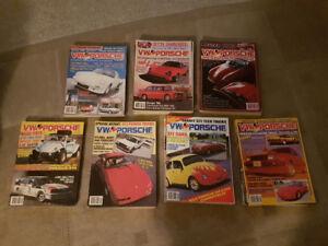 VW & Porsche Magazines 1983-1989 complete set (missing Feb1983