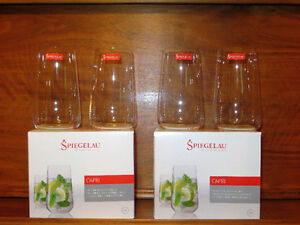 4 Glasses, Spiegelau, Long Drink Glass, Two sets of 2.
