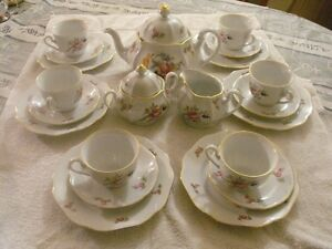 FINE BOHEMIAN CHINA TEA SET