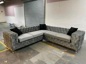 Brand New Chesterfield Corner Sofa