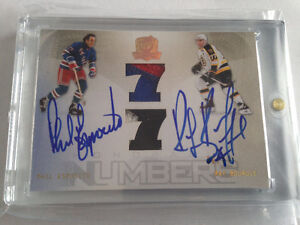 Phil Esposito Ray Bourque THE CUP 2009-10 AUTOGRAPH JERSEY #/77