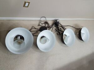 Pool table lights - 4 lamps $80, 3 lamps $50