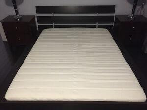 Ikea Queen Bed Frame & Wooden Slats