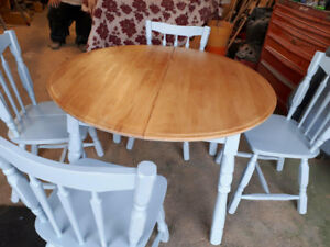 DINING TABLE and CHAIRS  revised price to go