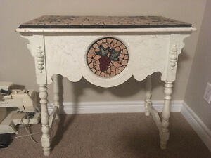 Beautiful antique side table with grape engraving