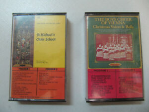 2pc Lot Of St. Michaels &TheBoysChoir Of Vienna AudioTapes 1980s