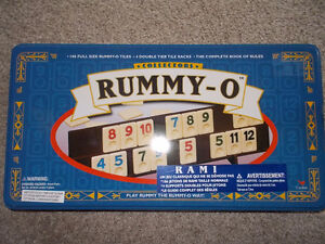Rummy-O Collectors Edition Tile Game-1999-NEW!