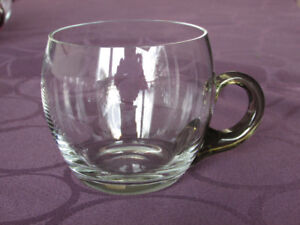 Hand blown glass punch cups and ladle