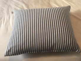 Blue/white large scatter cushion