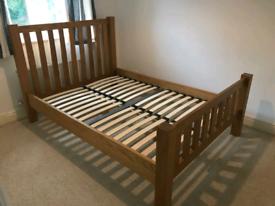 Kingsbury Oak Wooden Bed Frame - 4'6 Double
