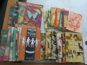 livres des années 1950-1960