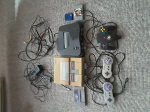 Super NES and Nintendo 64 for sale $120