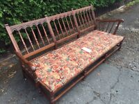Ercol elm `Old Colonial` Yorkshire back Golden Dawn 3 Seater Settee Sofa Suite - CAN DELIVER