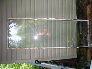"""Safety glass in frame 26"""" wide by 77"""" high"""