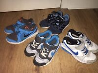 4 pairs of boys trainers Nike and adidas size 13