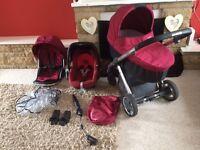 Oyster travel system with car seat maxi Cosi pram stroller buggy pushchair trolley