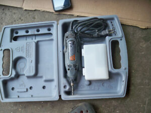 EL. drill/grinder with bits