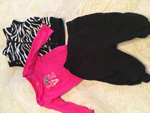 0 to 3 month Carters Love Onesie with fleece pants and vest
