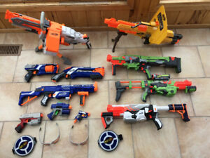 New Nerf Guns in Great Condition