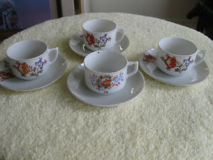 "SET of 4  VINTAGE SOUGHT AFTER ""OCCUPIED JAPAN"" CUPS & SAUCERS"