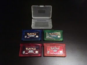 GBA Pokemon Ruby  Sapphire    Emerald Fire Red Leaf Green