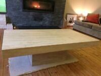 Large Marble Matt Coffee Table